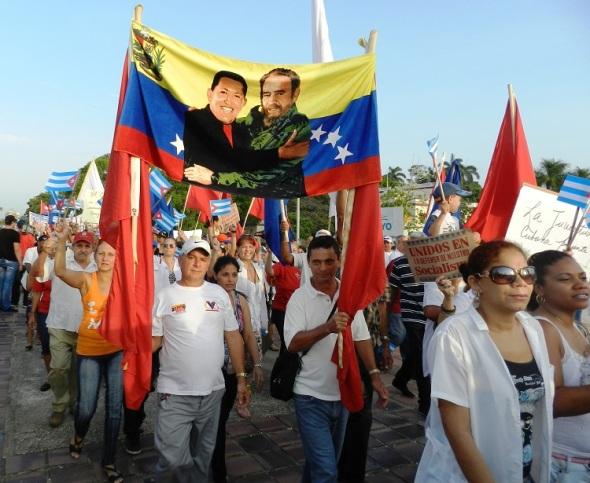 El recuerdo a Chavez