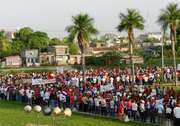 Los camagüeyanos concurrieron al 1 de mayo