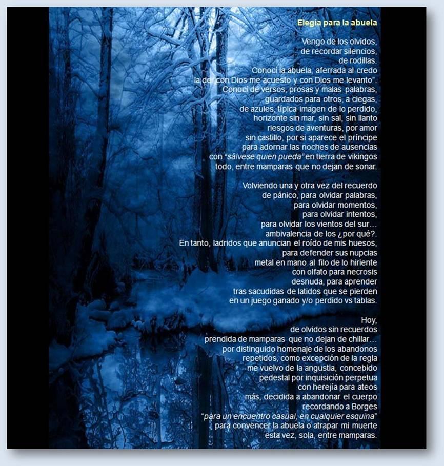 Elegía para la abuela. Poema de Mariví Rodríguez Triana