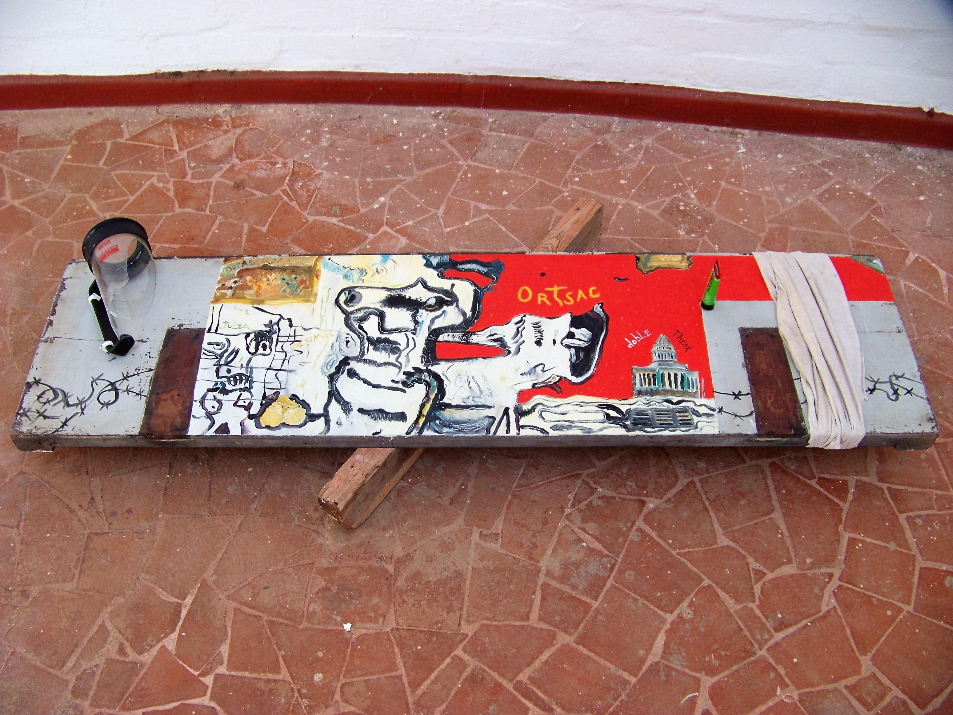 Winston Smith en la Habana de Ortsac. 2020. acrílico. mixta sobre madera. (2)
