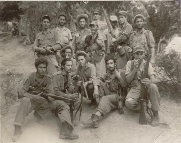 Integrantes del Pelotón de refuerzos en la Sierra Mestra que devindo columna 11 Cándido González