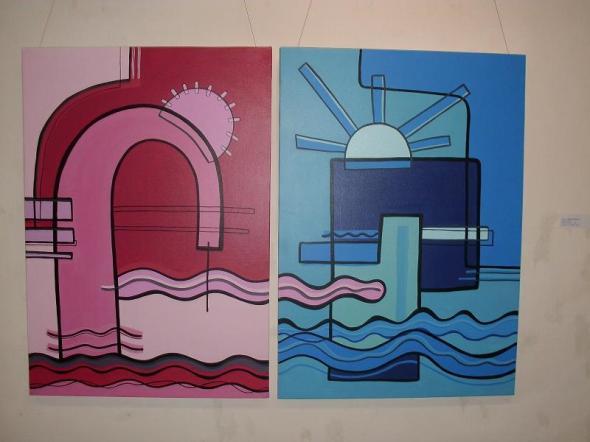 Trabajos de 13 artistas de la plástica del territorio realizadas entre 1967 y  2013 se pueden apreciar en esta muestra
