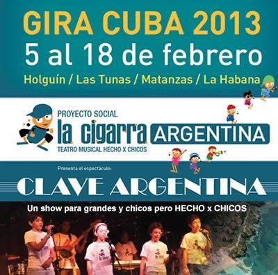 Compañia infantil argentina en Cuba