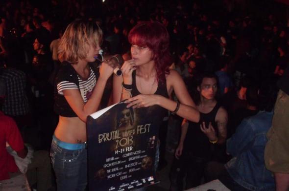 """Lenguaje del metal extremo del """"Brutal Fest""""  se imponen en ciudad cubana. Foto 20 de febrero 2013...Lazaro Najarro"""