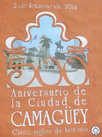 Cartel que presidirá actividades por fundación de villa patrimonial camagüeyana