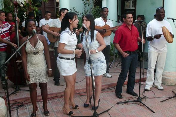 Grupo musical del Folklórico de Camagüey