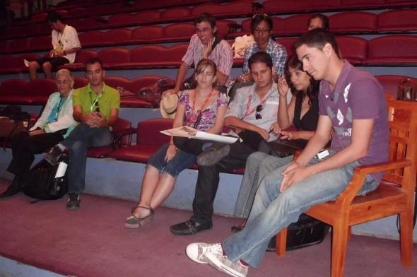 Algunos de los participantes en los encuentros de  blogs