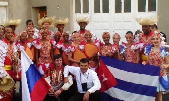 Camagua en el desfile de clausura del festival por las calles de la ciudad