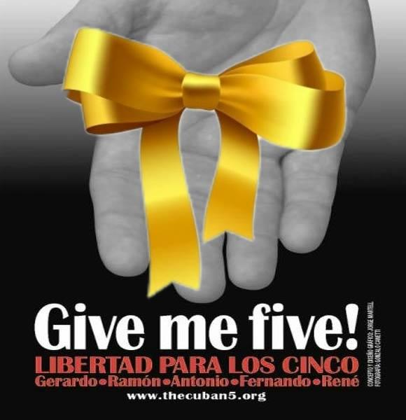 Cinta amarilla a favor de la libertad de los Cinco