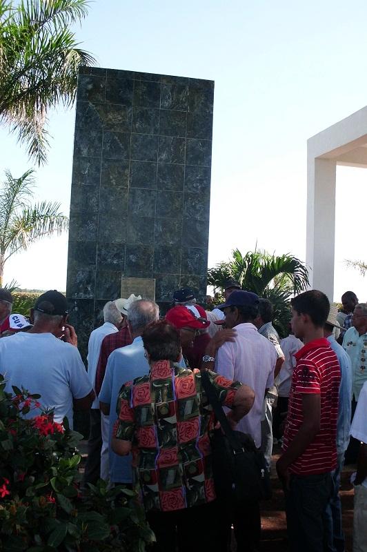 Homenaje a los masacrados en La Caobita