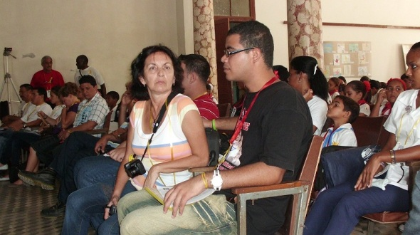 Mariviví Rodríguez integrante del Comité Internacional por la liberación de los cinco