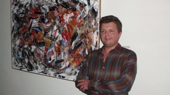 Artista de la plástica canadiense de origen británico Andrew Plum,