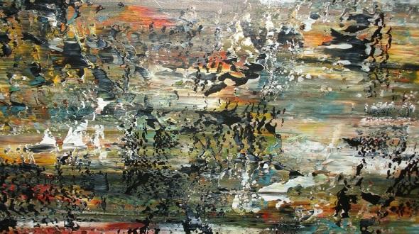 El autor incursiona magistralmente en la pintura abstracta