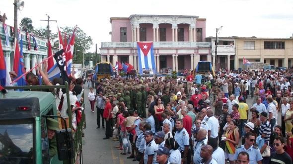 Caravana de la libertad en Camagüey. Foto Lázaro David Najarro