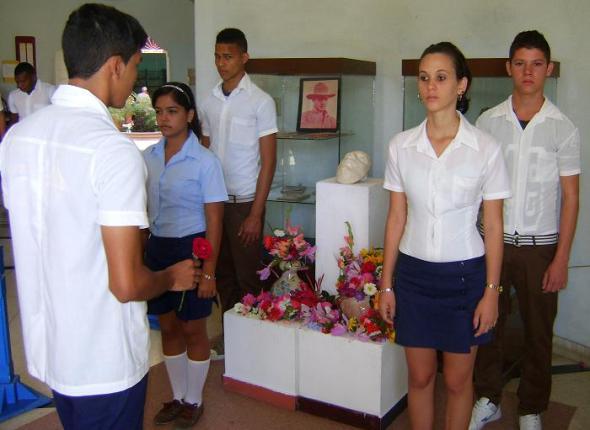 Homenaje a Julio Antonio Mella en Camagüey
