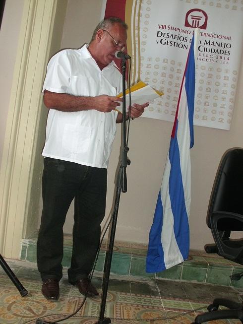 Omar Lezcano, presidente de la Asamblea Municipal del Poder Popular