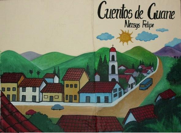 Al lienzo en gran formato de ilustraciones de la obra Cuentos de Guane - copia