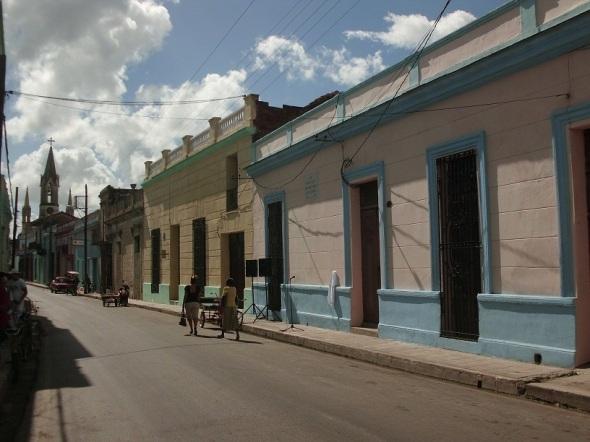 En primer plano Casa natal de la Avellenda, Cuba