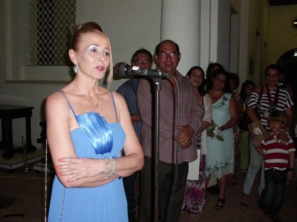 La artista italiana de la plástica Antonella Falcioni