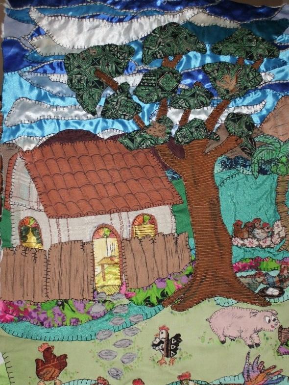 Una de las ilustraciones llevadas al lienzo