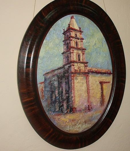Una de las obras dedicada a Nuestra Señora de La Soledad