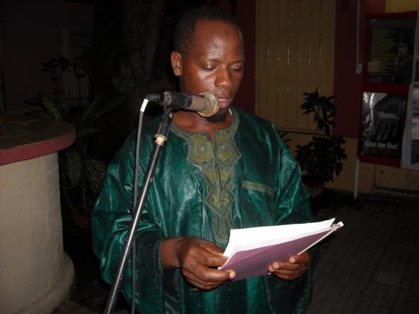 El estudiante Saido Dansó, de Guinea Bissau