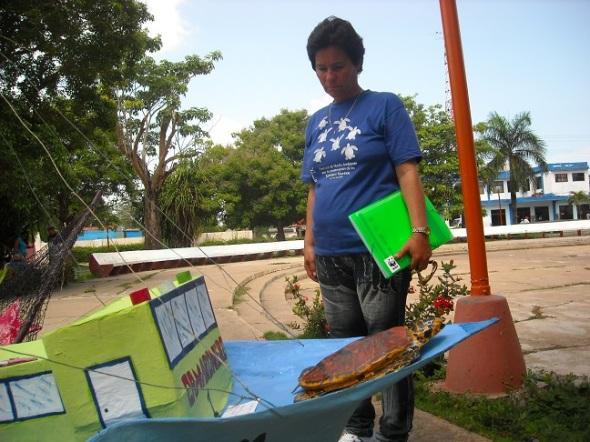Amarilis Blanco Ramírez, técnica de conservación en el Parque Nacional Jardines de la Reina