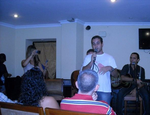 El integrante del Comité Internacional por la Liberación de los Cinco Michel Mendes, de Brasil