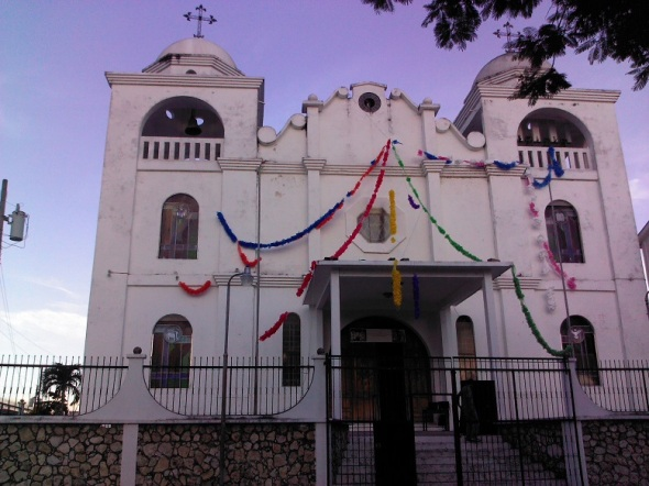 Histórica Iglesia en la Isla de Flores,Petén Guatemala.