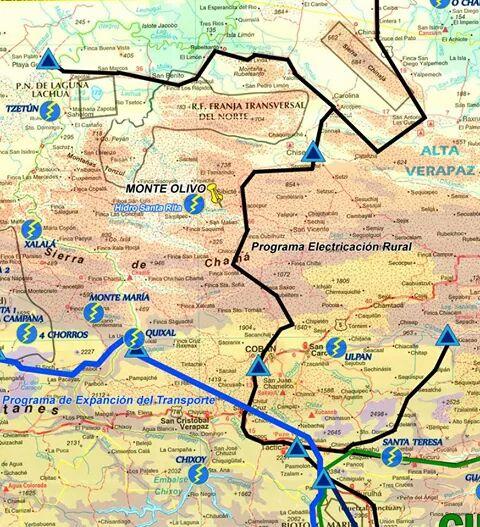 Una razón fundamental para el control de la cuenca del río dolores es que se podría garantizar una mejor ruta para transportar la maquinaria que se utilizaría para la construcción del megaproyecto de Xalalá. Imagen Resis