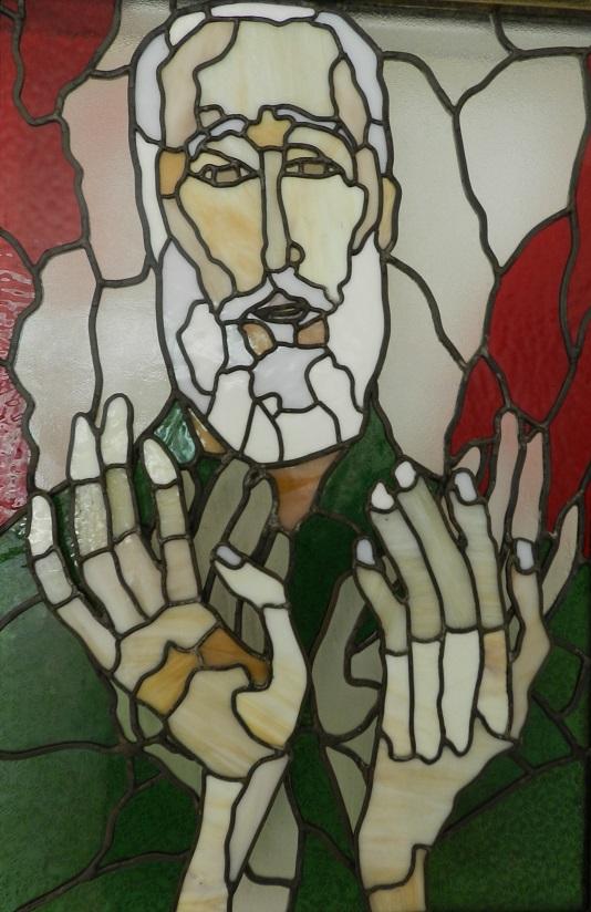 Fidel Castro Ruz. Primer retrato 1996.Vidrio emplomado. Dimnesión 47 x 70 cm