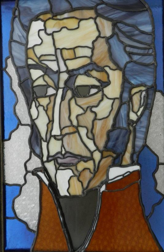 Simón Bolívar. Vidrio emplomado. Dimnesión 45 x 70 cm