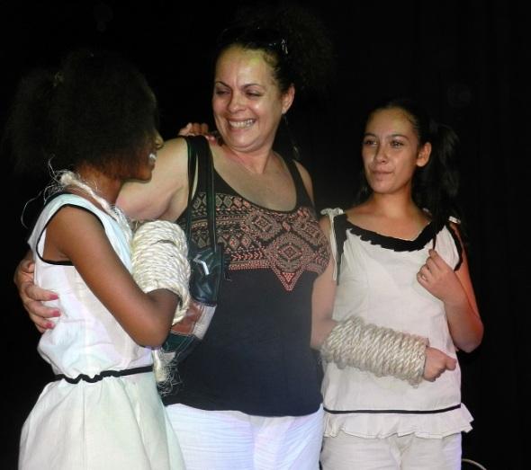 Blanca Felipe Rivero, conn las dos actrices