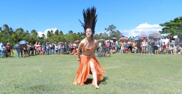 Joven bailarina mexicana Anahí Arteaga Salas recibió el aplauso prologando de los espectádores.Foto Lázaro David Najarro Pujol