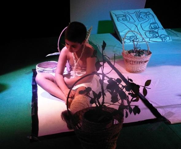 La Andariega también presentó una segunda versión de la obra interpretada por un niño y una niña