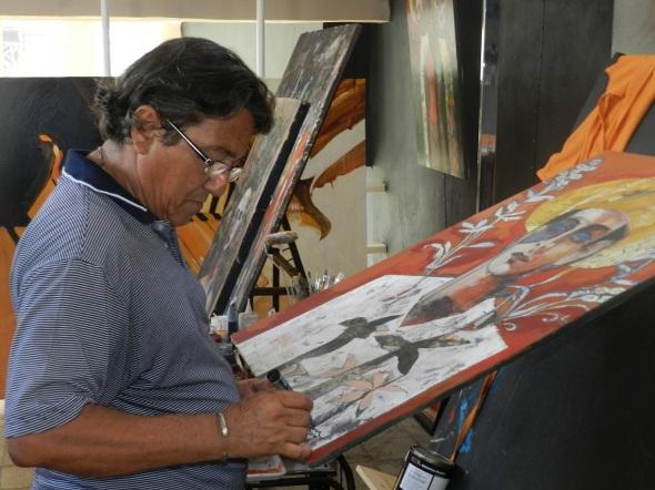 Oscar Rodríguez, presidente del comité organizador del Simposio Internacional de Cerámica Artística