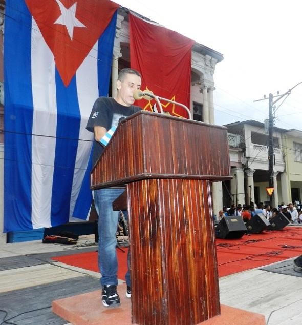 Roberto Conde Silverio, primer secretario de la Unión de Jóvenes Comunistas en Camagüey,