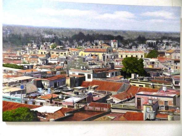 Villa del Puerto del Príncipe. Autor Bienvenido Letford . Dimensiones 120 x  80 cm