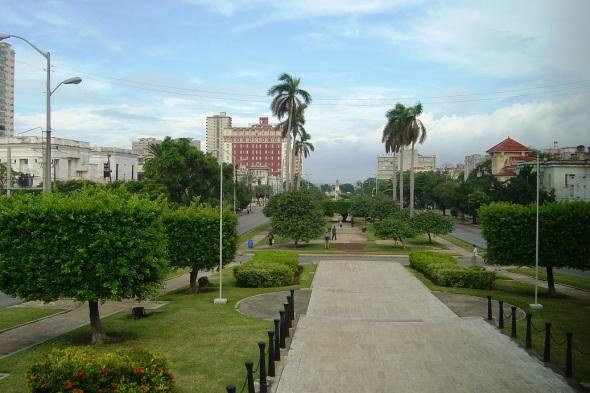 Avenida Presidente en La Habana