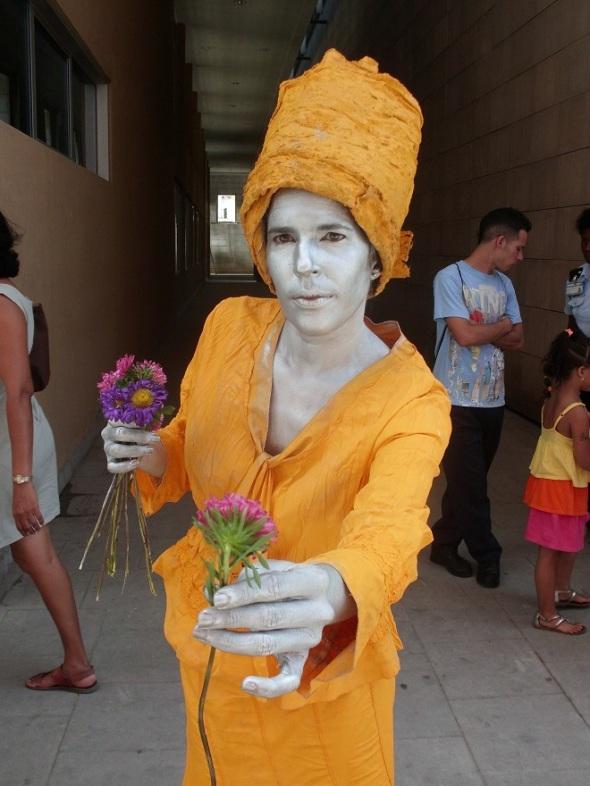Estatuas vivientes en La Habana Vieja