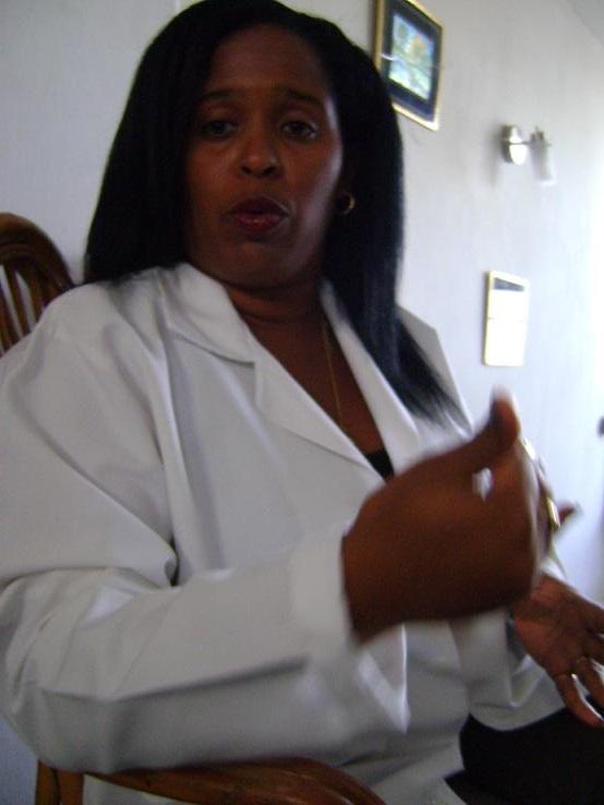 Investigadora cubana Alena de los Ángeles Vejerano. Foto Yahily Hernandez P.