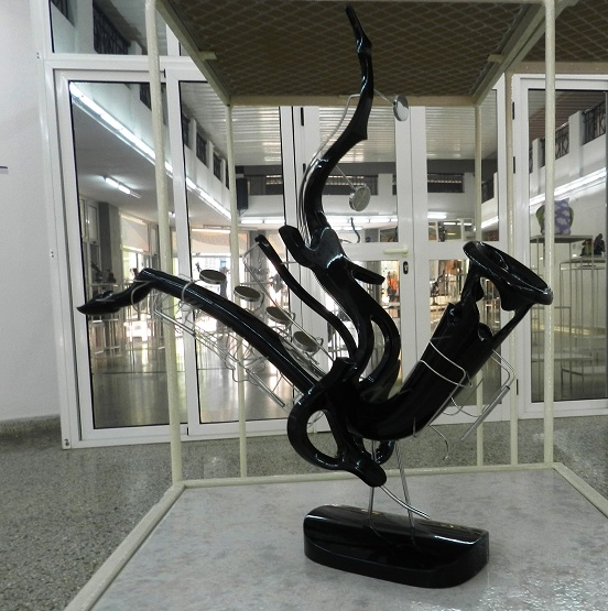 Obra Invención de dos voces de la exposición personal Con-cierto, del artista cubano Carlos Morata