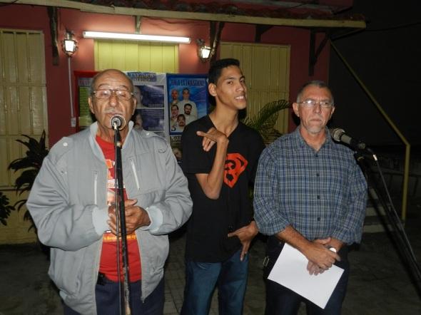 Activistas por la causa de los Cinco