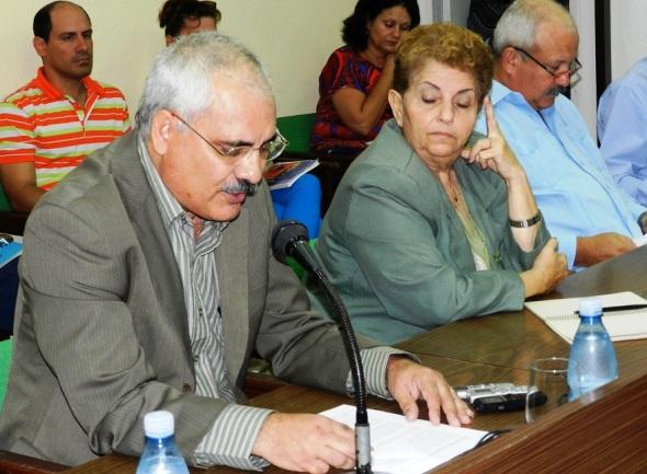Doctor en Ciencias Luis Alberto Pich, especialista del Ministerio de Educación Superior,