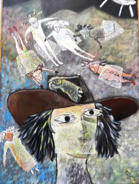 Oticolochú y el brujo T. Obra de Rodrick Dixon. Dimensión 80 x 90