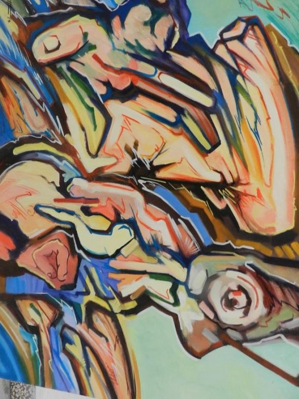 Tambor en la soledad. Obra de René de la Torre Dimensión 92 x 64