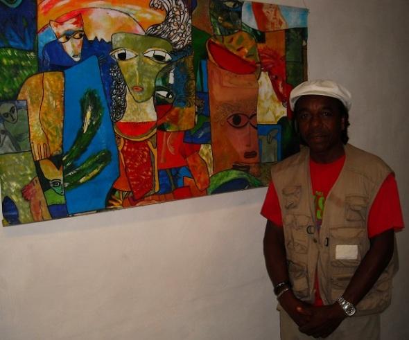 Artista cubano de la plástica Rodrick Dixon