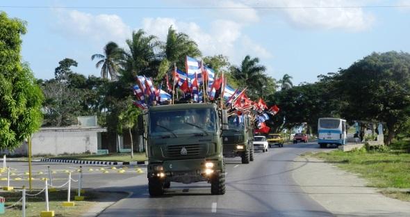 Como ya es tradicional la Caravana de la Libertad, que encabezara Fidel Castro hace 56 años, fue reeditada por jóvenes, adolescentes y niños de la provincia cubana de Camagüey