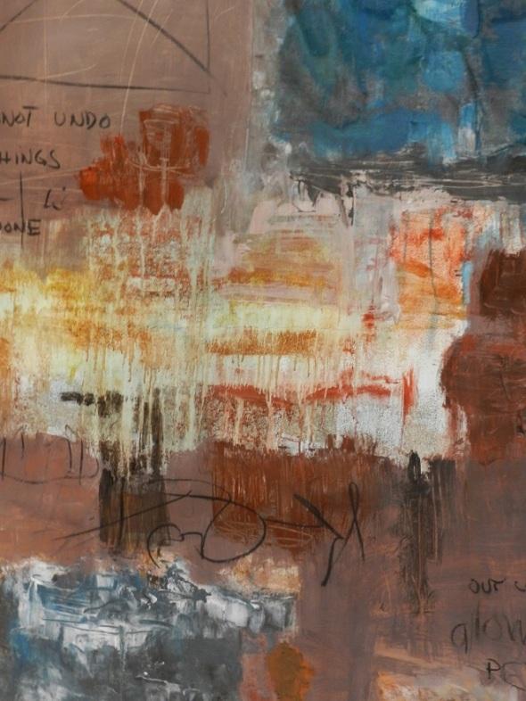 De la serie crecimientos. Autor Alid Nail. Dimensión 148 x 102 cm