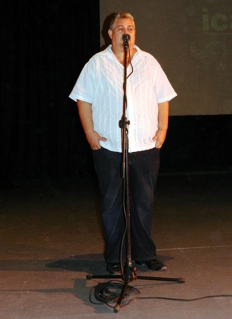 Director de Anima presentación del corto El Camarón Encantado.